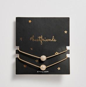 Sinsay - Bransoletki z kryształkami dla przyjaciółek - Beżowy