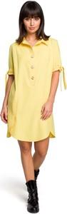 Sukienka MOE z lnu koszulowa