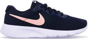 Granatowe buty sportowe Nike roshe sznurowane z płaską podeszwą
