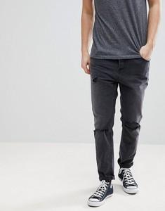 Czarne jeansy Asos Design ze skóry ekologicznej