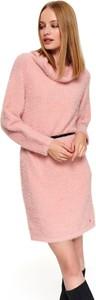 Różowa tunika Top Secret z dzianiny
