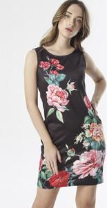Sukienka born2be mini z okrągłym dekoltem prosta
