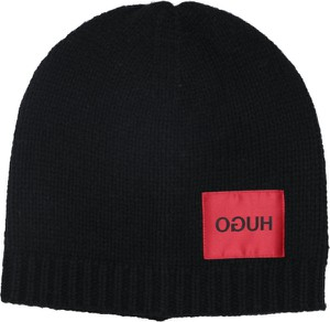 Czarna czapka Hugo Boss