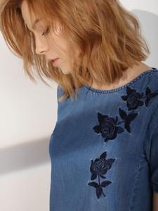 Niebieska sukienka Top Secret z okrągłym dekoltem mini w stylu casual