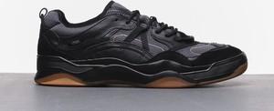 Czarne buty sportowe Vans sznurowane z zamszu