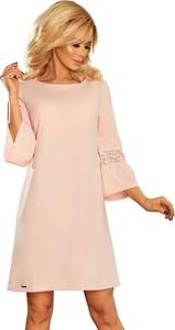 Sukienka NUMOCO z okrągłym dekoltem z długim rękawem