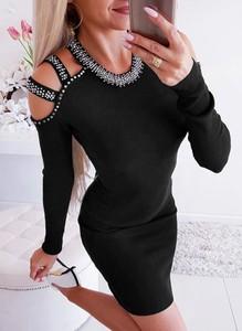 Czarna sukienka Sandbella mini dopasowana