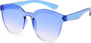 Dedra Tęczowe okulary przeciwsłoneczne, 100% ochrona UV niebieskie, UV400