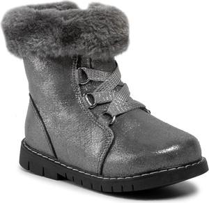 Złote buty dziecięce zimowe Nelli Blu sznurowane