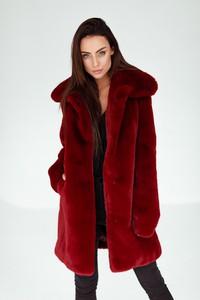 Czerwony płaszcz Smoke Furs w stylu casual