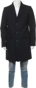 Czarny płaszcz męski Pier One