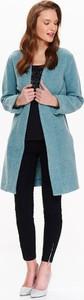 Niebieski płaszcz Top Secret z wełny