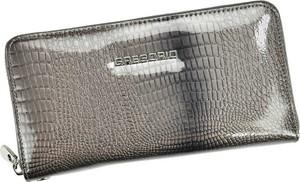 Srebrny portfel Pellucci ze skóry