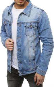 Niebieska kurtka Dstreet z jeansu w młodzieżowym stylu