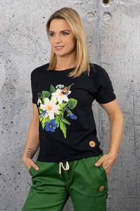 Bluzka Nessi Sportswear z okrągłym dekoltem w młodzieżowym stylu