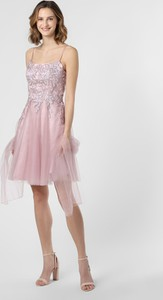 Różowa sukienka Luxuar Fashion mini na ramiączkach