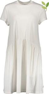 Sukienka Marc O'Polo DENIM z bawełny z krótkim rękawem z okrągłym dekoltem