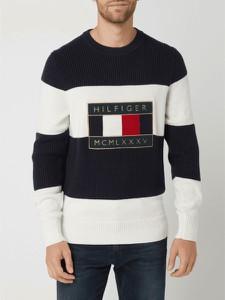 Sweter Tommy Hilfiger w młodzieżowym stylu z bawełny z okrągłym dekoltem