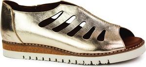 Złote sandały Lanqier w stylu casual