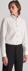 Koszula Reserved z tkaniny z kołnierzykiem button down z długim rękawem