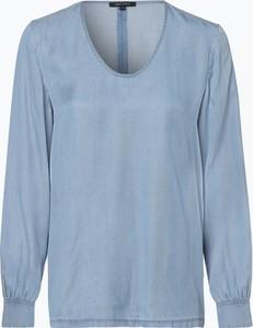 Niebieska bluzka Marc O'Polo z długim rękawem w street stylu