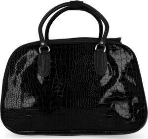 Czarna torebka Or&mi lakierowana ze skóry ekologicznej w stylu glamour