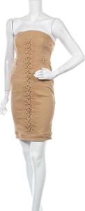 Sukienka Runaway The Label dopasowana bez rękawów mini