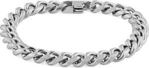 Trendhim Łańcuszkowa bransoletka w srebrnym tonie 8 mm