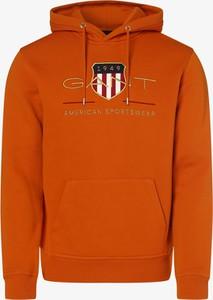 Pomarańczowa bluza Gant z dresówki