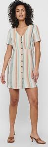 Sukienka Only w stylu casual z krótkim rękawem z dekoltem w kształcie litery v
