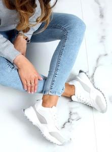 Buty sportowe Buty Damskie sznurowane z tkaniny