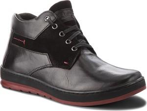 Buty dziecięce zimowe Lasocki For Men ze skóry
