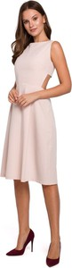 Sukienka Merg midi z odkrytymi ramionami