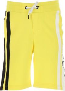 Żółte spodenki dziecięce Givenchy z bawełny