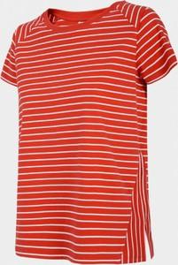 Czerwony t-shirt Outhorn w stylu casual