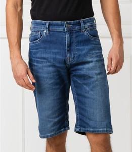 Niebieskie spodenki Pepe Jeans w stylu casual z jeansu