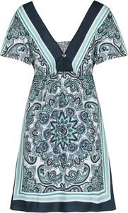 Sukienka My Twin z dekoltem w kształcie litery v mini trapezowa