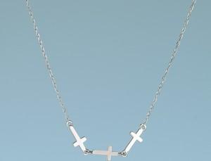 Moda Italiana Naszyjnik srebrny z krzyżykami