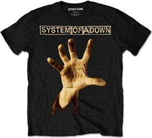 Czarny t-shirt amazon.de z nadrukiem z krótkim rękawem
