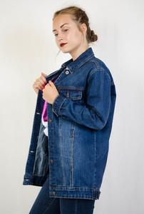 Niebieska kurtka Olika z jeansu