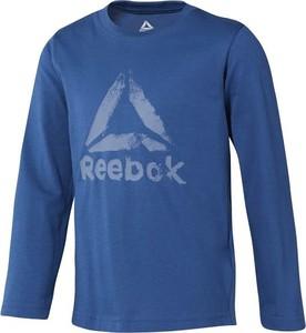Niebieska koszulka dziecięca Reebok Fitness z długim rękawem