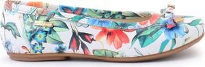 Zapato balerinki - skóra naturalna - model 012 - kolor kwiatek