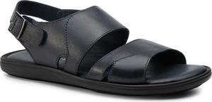 Czarne buty letnie męskie Sergio Bardi ze skóry z klamrami