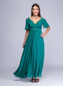 Zielona sukienka Semper z dekoltem w kształcie litery v