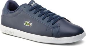 Lacoste Sneakersy Graduate Bl 1 Sma 7-37SMA0053092 Granatowy