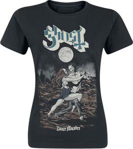 Czarny t-shirt Ghost z bawełny