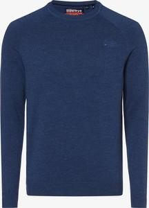 Niebieski sweter Superdry