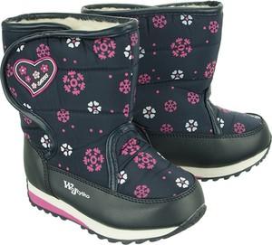 Buty dziecięce zimowe Wojtyłko na rzepy