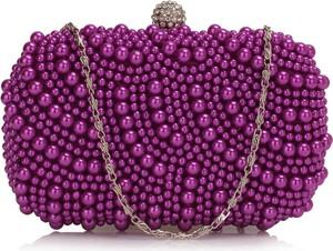Fioletowa torebka Wielka Brytania mała na ramię w stylu glamour