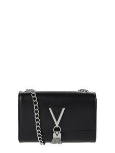 Czarna torebka Valentino by Mario Valentino w stylu glamour matowa ze skóry ekologicznej